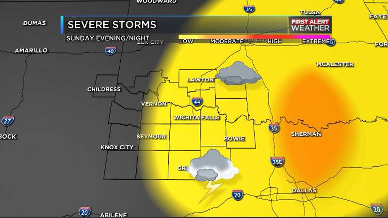 Possible severe weather Sunday