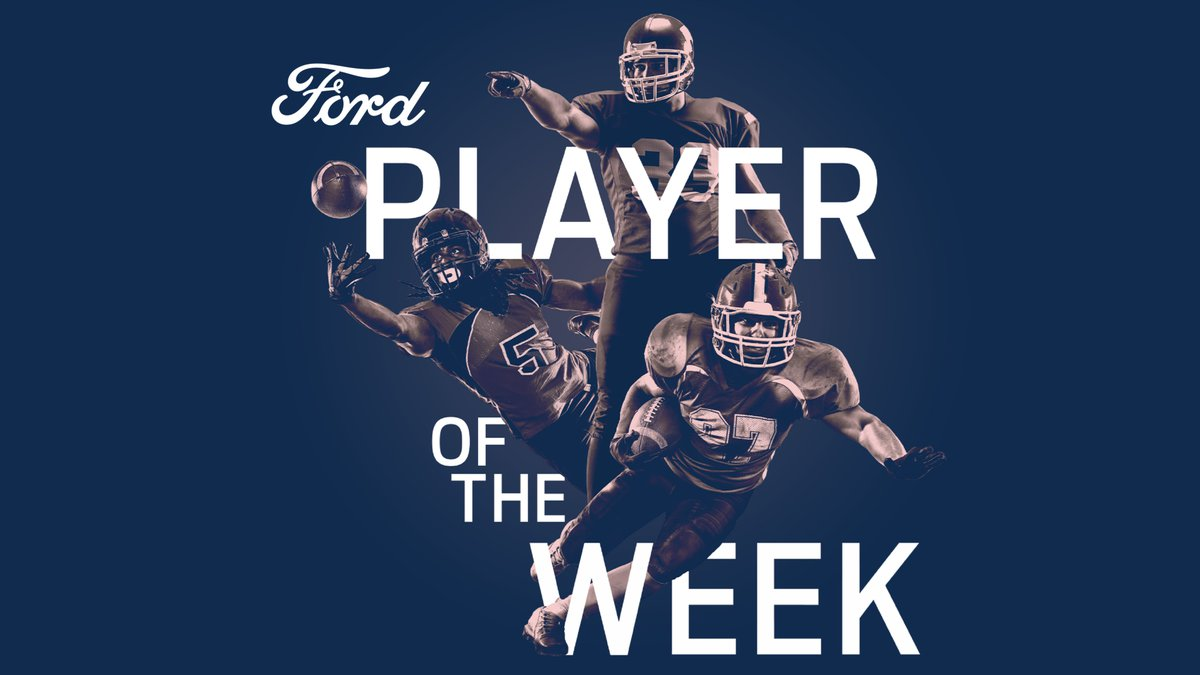 Winners will be honored with a Player of the Week trophy from a local Ford dealership.