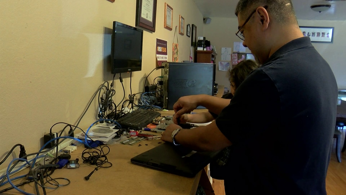 Through the help of the community this business owner is repairing and donating computers to...