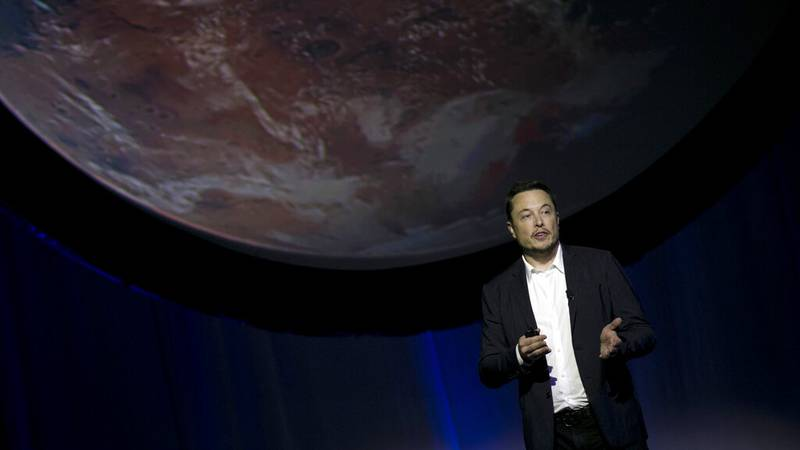 FILE - In this Sept. 27, 2016, file photo, SpaceX founder Elon Musk speaks during the 67th...