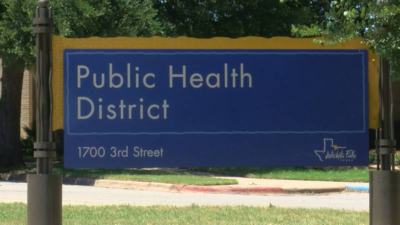 Sign of the Public Health District as they talk about the severity of the coronavirus.