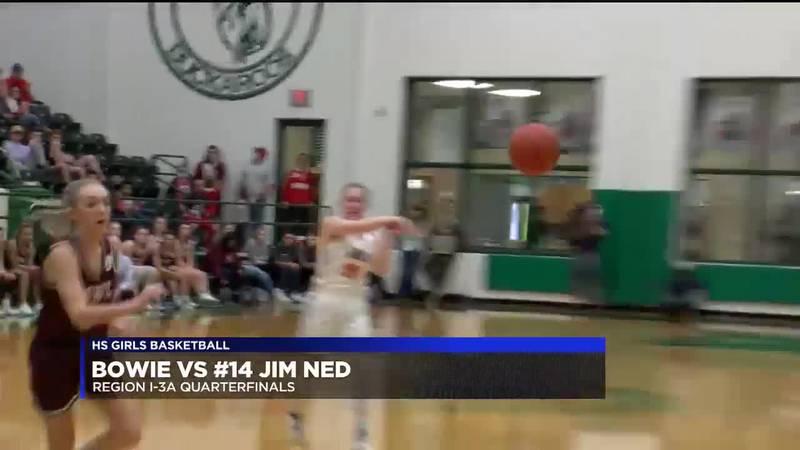 Bowie vs #14 Jim Ned girls basketball highlights