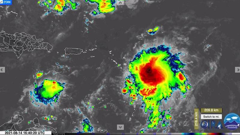 The National Hurricane Center said Fred has regained tropical storm status in the Gulf of...