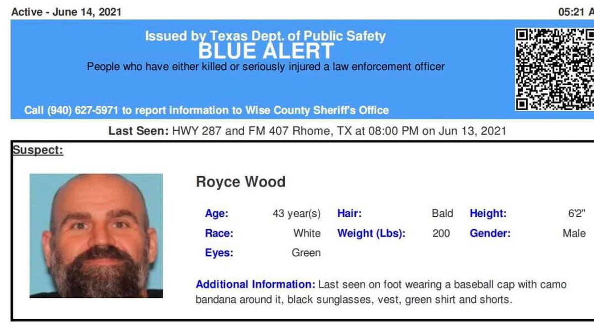 A Blue Alert issued Monday morning for a man suspected of shooting a Texas officer has been...