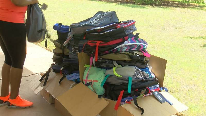 Free backpack and school supplies given out this weekend.