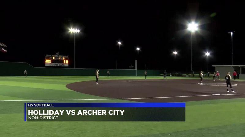 Holliday vs Archer City softball