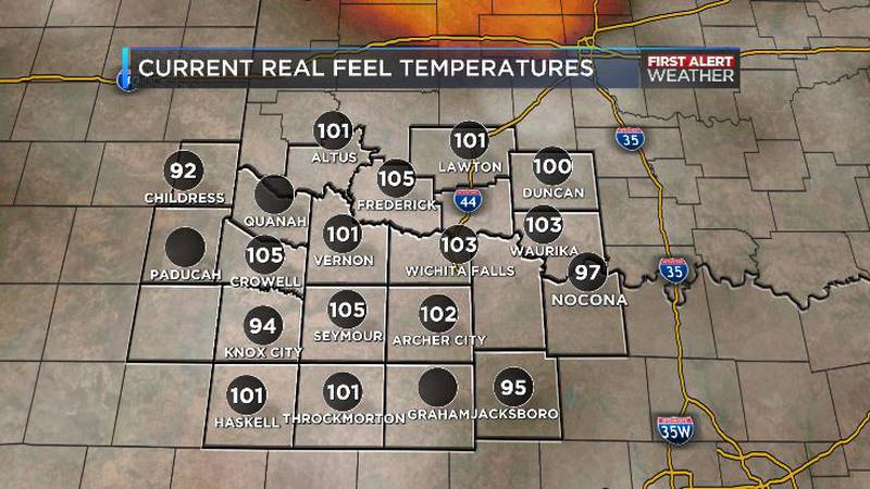 Real feel over 100
