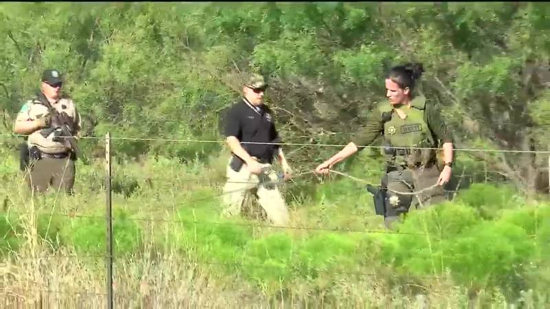 The manhunt started off of Seymour Highway Wednesday afternoon.