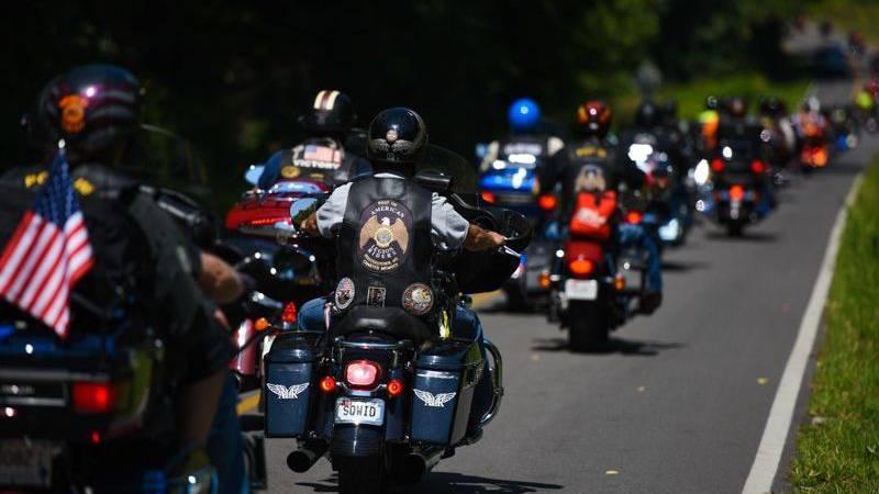 Veterans ride for five days, raising money to provide scholarships for family members of fallen...